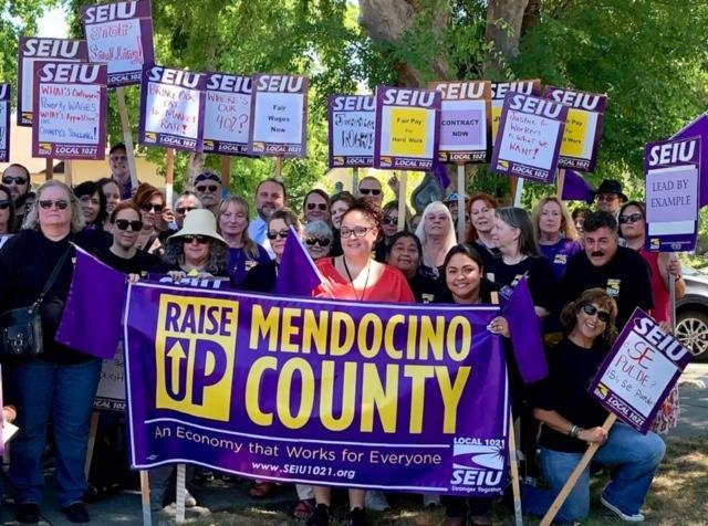 SEIU 1021 Mendocino County workers rally for an economy that works for everyone.